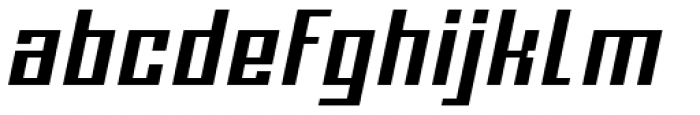 Urbox Nu Std 12 Extended Italic Font LOWERCASE