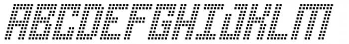 Urbox rg Lcd Light Slanted Font UPPERCASE