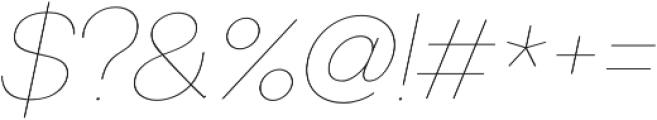 US Bilko otf (100) Font OTHER CHARS