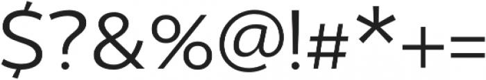 US Bill otf (400) Font OTHER CHARS
