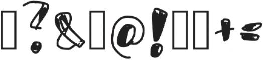 Usumi otf (400) Font OTHER CHARS
