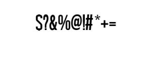 UsePrint.ttf Font OTHER CHARS