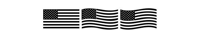 US Flag Font OTHER CHARS