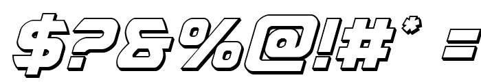 USAngel 3D Italic Font OTHER CHARS