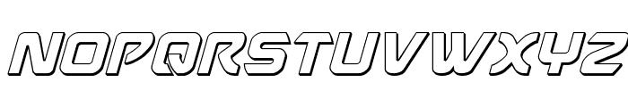 USAngel 3D Italic Font UPPERCASE