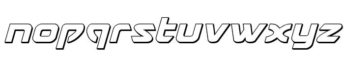 USAngel 3D Italic Font LOWERCASE
