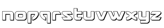 USAngel 3D Font LOWERCASE