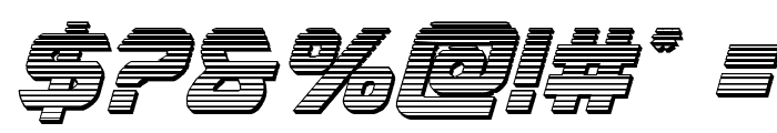 USAngel Chrome Italic Font OTHER CHARS