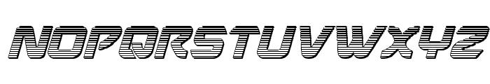 USAngel Chrome Italic Font UPPERCASE