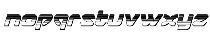 USAngel Chrome Italic Font LOWERCASE