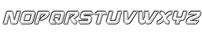 USAngel Engraved Italic Font UPPERCASE