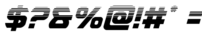 USAngel Halftone Italic Font OTHER CHARS