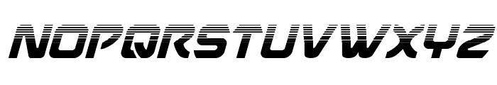 USAngel Halftone Italic Font UPPERCASE