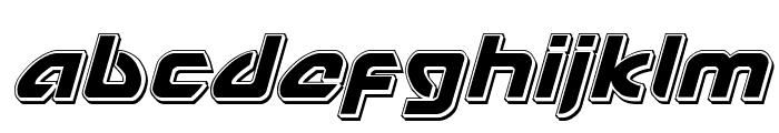 USAngel Punch Italic Font LOWERCASE