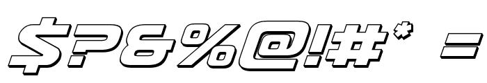 Usuzi 3D Italic Font OTHER CHARS