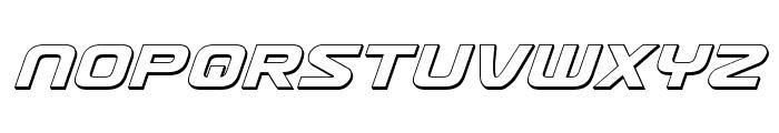 Usuzi 3D Italic Font LOWERCASE