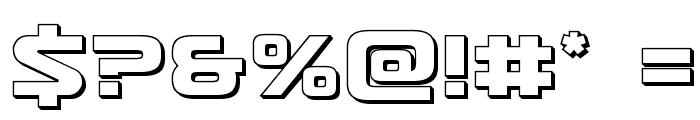 Usuzi 3D Font OTHER CHARS
