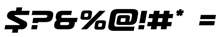Usuzi Semi-Italic Font OTHER CHARS