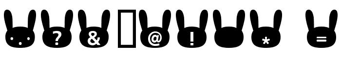 usagi_b  Bold Font OTHER CHARS
