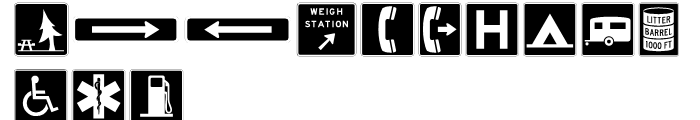 USF Highway USA Four Font UPPERCASE