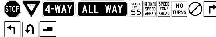 USF Highway USA One Font UPPERCASE
