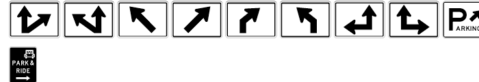 USF Highway USA Three Font OTHER CHARS