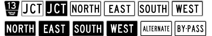 USF Highway USA Three Font LOWERCASE