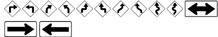 USF Highway USA Two Font UPPERCASE