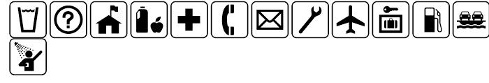 USF Recreational SEGD G Font UPPERCASE