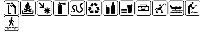 USF Recreational SEGD H Font UPPERCASE