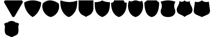 USF Shapes E Font UPPERCASE