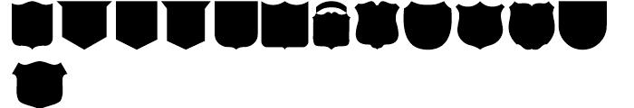 USF Shapes E Font LOWERCASE