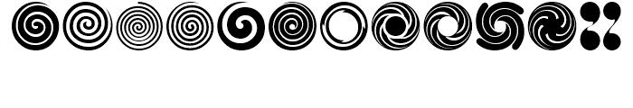 USF Spiral Rotors Regular Font UPPERCASE