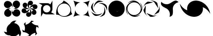 USF Spiral Rotors Regular Font LOWERCASE