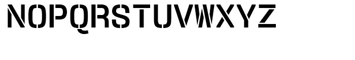 User Stencil Bold Font UPPERCASE