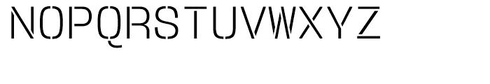 User Stencil Light Font UPPERCASE