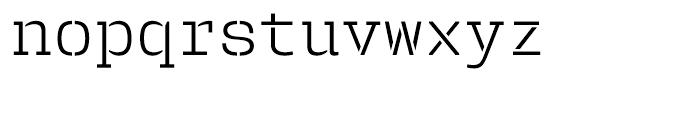User Stencil Light Font LOWERCASE