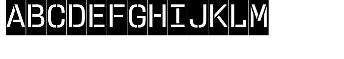 User Stencil Medium Cameo Font UPPERCASE