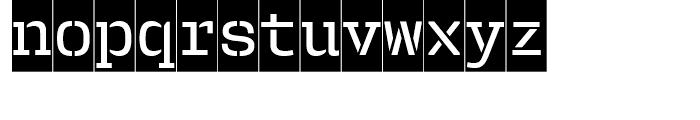 User Stencil Medium Cameo Font LOWERCASE