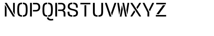User Stencil Medium Font UPPERCASE