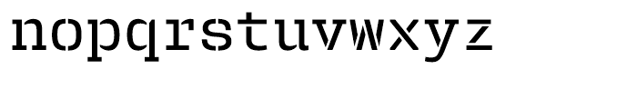 User Stencil Medium Font LOWERCASE