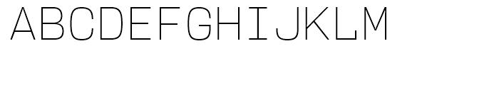 User Upright ExtraLight Font UPPERCASE