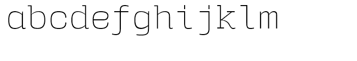 User Upright ExtraLight Font LOWERCASE