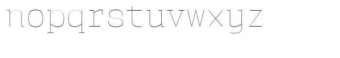 User Upright Hairline Font LOWERCASE