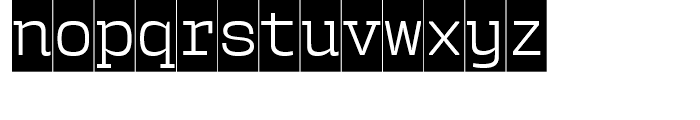 User Upright Light Cameo Font LOWERCASE