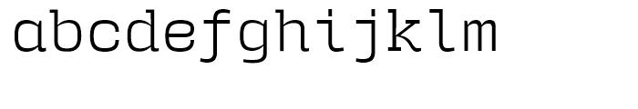 User Upright Light Font LOWERCASE