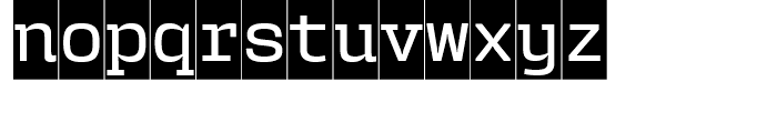 User Upright Medium Cameo Font LOWERCASE