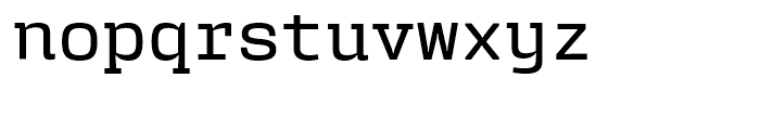 User Upright Medium Font LOWERCASE