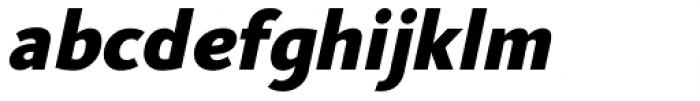US Bill Sans Extra Bold Slant Font LOWERCASE