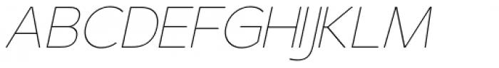 US Bill Sans Extra Light Slant Font UPPERCASE